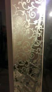 Узоры в панно зеркальном