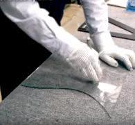 Как резать большое стекло