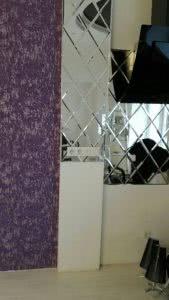 розетки в зеркальном панно